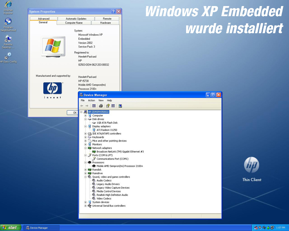 Windows xp embedded thin client download